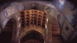 Un detalle de uno de los arcos de la estupenda catedral de Monreale.